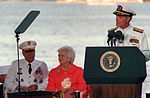 Adm. Charles R. Larson speaks during the observance of the 50th anniversary of the Japanese attack on Pearl Harbor.jpg
