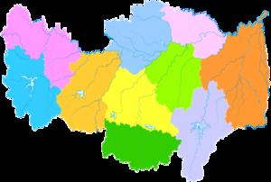 Xinyang - Image: Administrative Division Xinyang