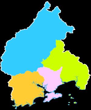 Yangjiang - Image: Administrative Division Yangjiang