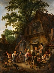 Peasant Dance by a Tavern