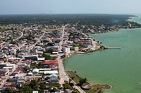 Aerial of Corozal Town