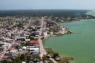 Aerial of Corozal Town