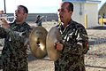 Afghan National Army soldiers assigned to the 203rd Corps band play a musical selection using new instruments donated by the U.S. Army's 101st Airborne Division Band Dec. 14, 2013, at Forward Operating Base 131214-A-YW808-110.jpg