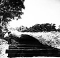 African-American workers laying railroad ties for spur line, 1942 (26682597533).jpg