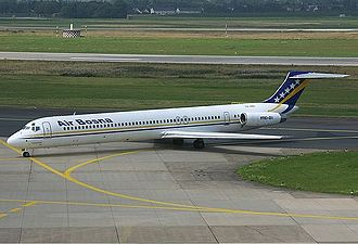 B&H Airlines - A former Air Bosna McDonnell Douglas MD-80 in 2002