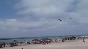 File:Air Force Fly By on Tel Aviv Beach P1140137.ogv