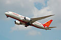 Air India Boeing 787-8 Dreamliner (VT-ANG) departs London Heathrow Airport 2ndJuly2014 arp.jpg