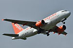 "Airbus A319-100 easyJet (EZY) ""easyJets 100th A319"" G-EZBR - MSN 3088 (9741146084).jpg"
