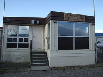 Faro Airport (Yukon) - Image: Airport Terminal at Faro Airport Yukon
