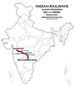 Ajantha Express Route map.jpg