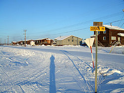 Aklavik in early-February 2008