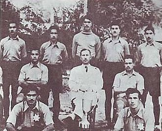 Al-Shorta SC - Montakhab Al-Shorta players with the Taha Al-Hashimi Cup that they won in 1938.