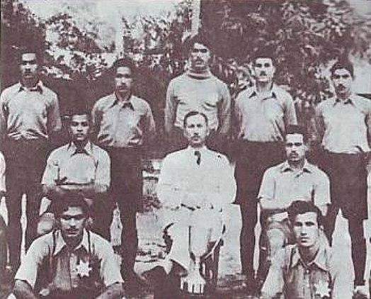 Al-Shorta Club with the Taha al-Hashimi Cup in 1939