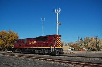 San Luis and Rio Grande Railroad - Image: Alamosa SLRG 115 2012 10 22