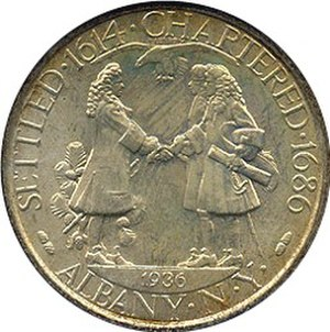 Albany Charter half dollar - Obverse