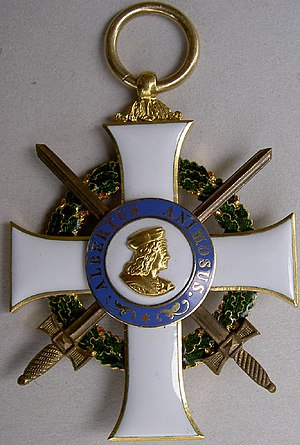 Albert Order - Badge of the order with swords
