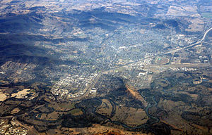 Albury - Aerial view of the city