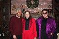 Alex Trebek, Paula Poundstone, Don McLean at Trebek's annual Christmas Party.jpg