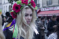 Alexandra Shevchenko, during a Femen protest in Paris.jpg