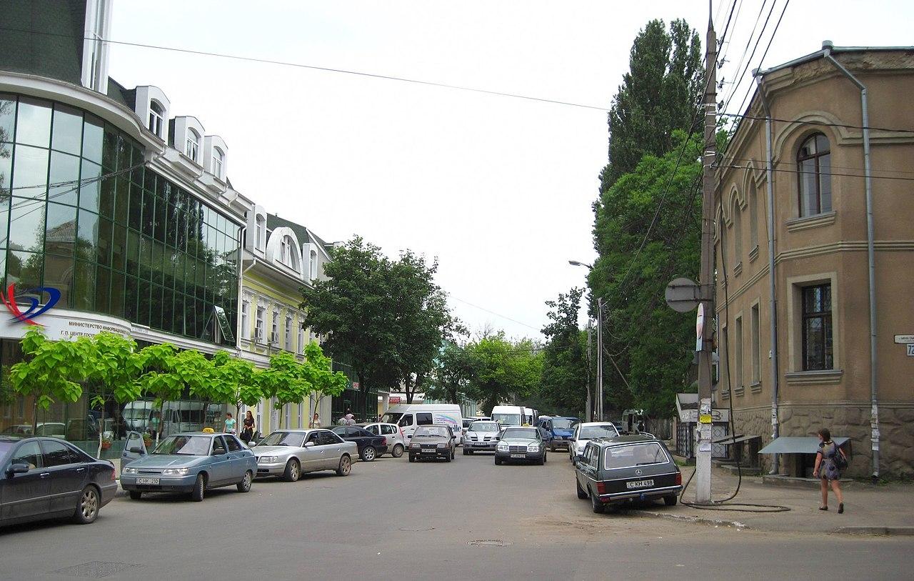 File Alexandru Cel Bun St Looking Se From Mihai Eminescu St