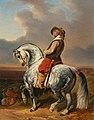 Alfred Dedreux Musketier auf einem Schimmel c1850-52.jpg
