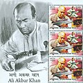 Ali Akbar Khan 2014 stampsheet of India cr.jpg