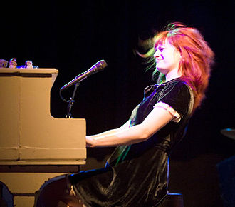 Alison Sudol - Sudol playing the piano, Salt Lake City, 2008