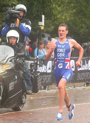 Alistair Brownlee - Alistair Brownlee wins the Hyde Park Triathlon, London, August 2011
