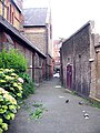 Alleyway along St Peter's Church, Prescot Place, London SW4 - geograph.org.uk - 835396.jpg