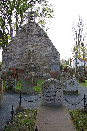 William Burnes - The kirk ruins and William Burnes's grave
