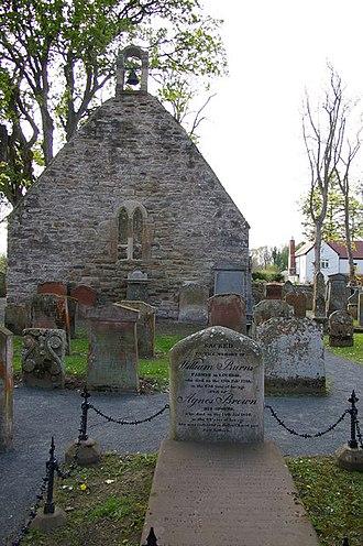 William Burnes - The kirk ruins and William Burnes's grave