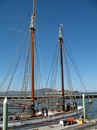 National Register of Historic Places listings in San Francisco - Image: Alma (scow schooner, San Francisco) 2