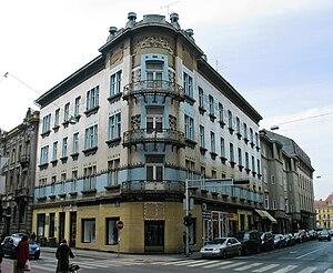 Kallina House - Image: Alojz Bastl Vjekoslav Bastl Kuća Kallina 1903 4. Masarykova 21 23 Gundulićeva 23
