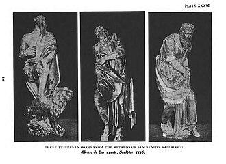 Alonso Berruguete - Alonso de Berruguete three figures in wood