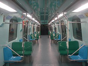 Line 2 (São Paulo Metro) - Internal view of one of the new trains for Line 2 (Green).