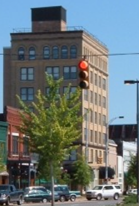 Alston building in downtown tu