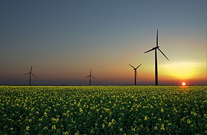 Energy development - Wind, sun, and hydroelectricity are three renewable energy sources.
