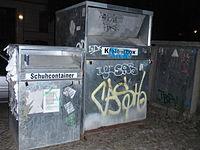 Altkleider-Container, Zentrum für Ost-Europa Hilfe e.V., Farbe: silber