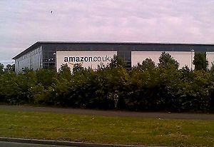 English: Amazon warehouse in Glenrothes, Fife;...
