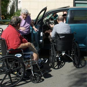 Adapted automobile - Image: Anaheim disability group