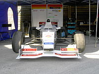 Reynard 01L converted into a hill climb racing car.