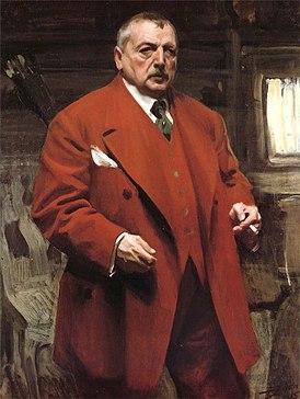 Автопортрет в красном, 1915