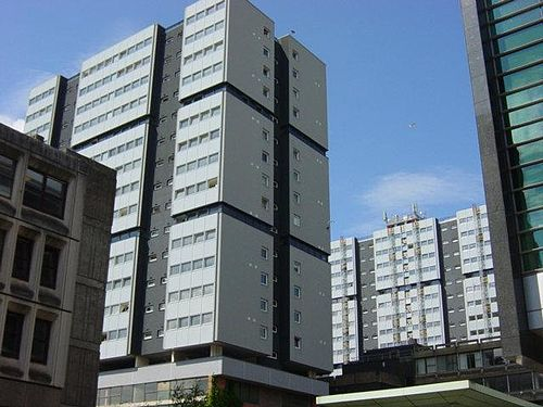 The Blythswood Court estate in Anderston, one of many high-rise schemes in the city constructed in the 1960s and 1970s AnderstonCtrMultis.jpg