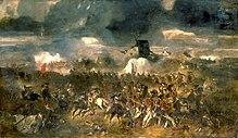 tableau de 1852 représentant une scène de la bataille