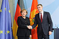 Angela Merkel with Igor Luksic.jpg