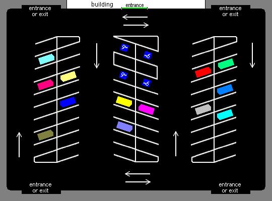 Angle parking lot diagram