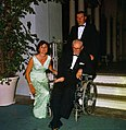 Ann Gargan with uncle Hon. Joseph P. Kennedy and aide at the Everglades Club for the St. Mary's Hospital ball.jpg