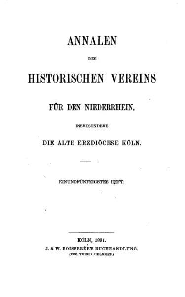 File:Annalen des Historischen Vereins für den Niederrhein 51 (1891).djvu