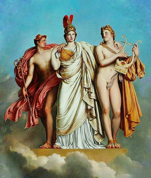 Anne-Louis Girodet-Trioson - Minerva between Apollo and Mercury, 1814-15