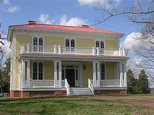 National Register of Historic Places listings in Charlotte County, Virginia - Image: Annefield Front View